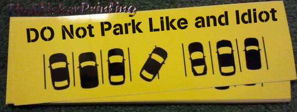 Parking bumper sticker australia