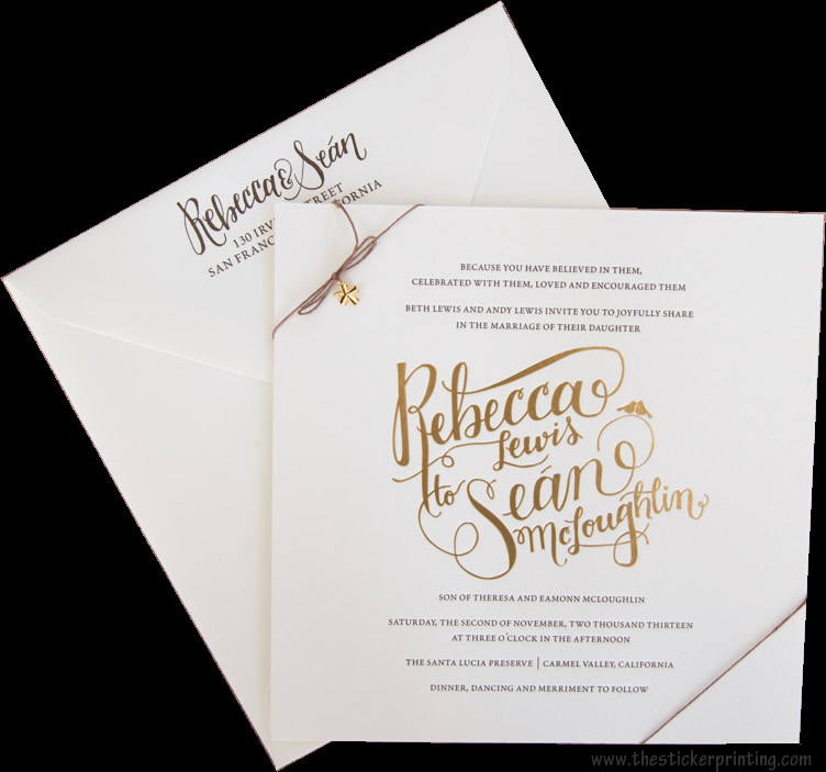 Invitations Cards Printing in AU, UK - TheStickerPrinting
