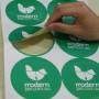 Half Die Cut Round Paper Stickers Australia