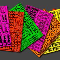 Printed Fluorescent Stickers Australia