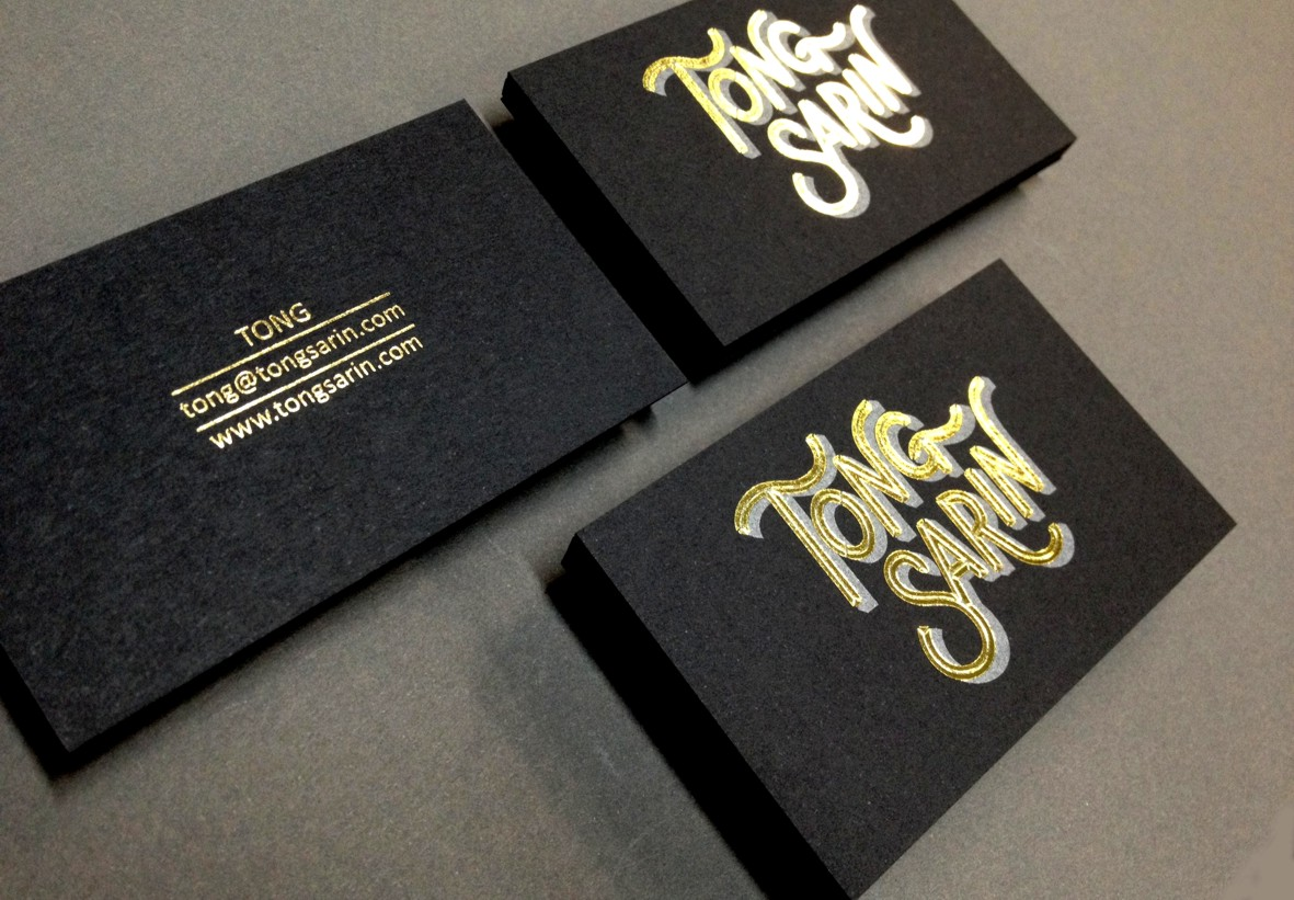 Custom Gold Foil Stamped Business Card Australia