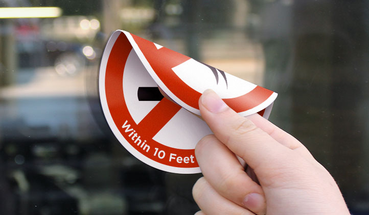Double Sided Stickers Printing Car Window Stickers Australia