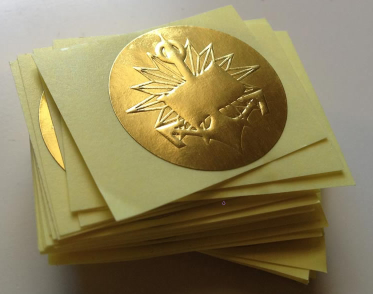 Custom Embossed Labels Gold Embossed Stickers Australia