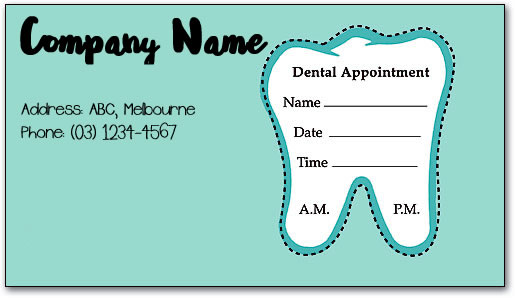 Custom appointment card stickers australia