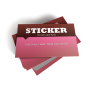 Full Colour Business Card Stickers