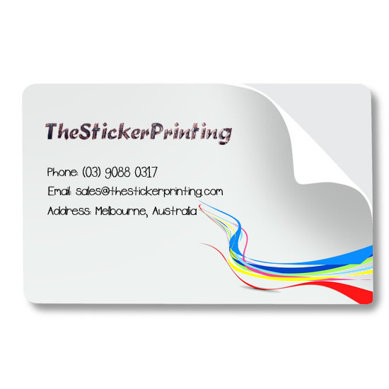 Business cards stickers printing online thestickerprinting business card stickers printing australia reheart Images