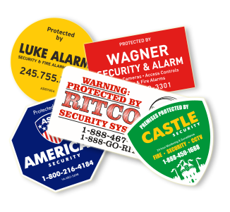 Alarm Stickers Security Signs Brisbane Cheap Stickers