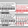 Custom Barcode Tamper Evident Labels