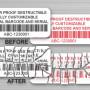 Custom Barcode tamper evident labels Australia